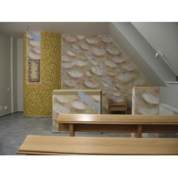 presbytář- freska