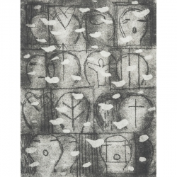 Chrámový sbor / 2013 / lept / 20 x 15 cm