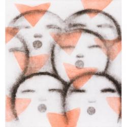 Andělské zpěvy / 2013 / lept / 54 x 49,5 cm