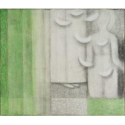 Zvěstování / 2006 / akryl, papír, plátno / 85 x 100 cm