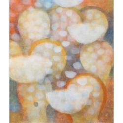 Liturgie / 2013 / akryl, papír, plátno / 130 x 110 cm