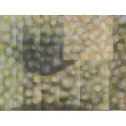 Před kostelem / 2014 / akryl, papír, plátno / 130x170cm