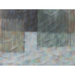 Zimní krajina/2019/ akryl, plátno/ 130x150cm