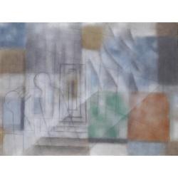 Větrný den (Orlické hory) /2020/akryl, plátno/135x180cm