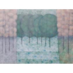 Ranní sad/2020/akryl, plátno/ 135x180cm