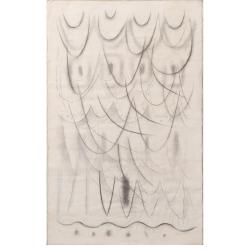 Ukolébavka / 1997 / uhel, akryl, papír / 153 x 96 cm