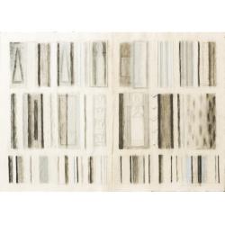 Letící kniha / 1995 / akryl, vrstvený papír / 98x140cm