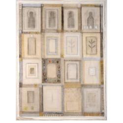 Tiché rekviem / 2000 / tempera, vrstvený papír / 210 x 160 cm