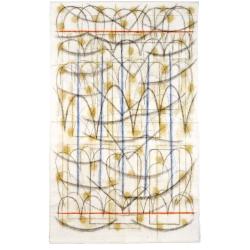 Kancionál / 2006 / akryl, vrstvený papír / 260 x 160 cm