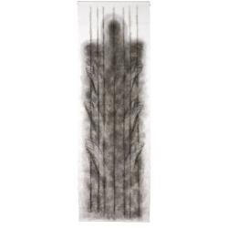 Vzývající anděl / 2008 / akryl, vrstvený papír / 300 x 100 cm