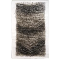Aleluja / 2010 / akryl, vrstvený papír / 270 x 140 cm