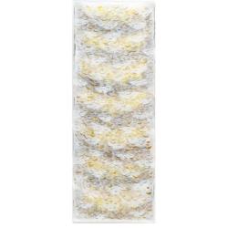 Ranní modlitba / akryl, vrstvený papír, gáza / 300 x 125 cm
